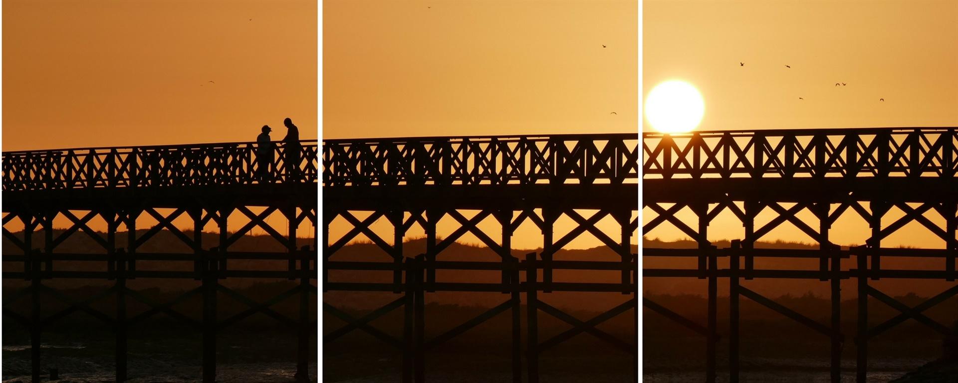 ria formosa bridge to ancão beach