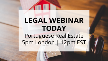 FREE Sign Up to Today's Webinar with Portuguese Lawyer! 🎥